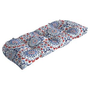 41.5 in. x 18 in. Clark Countoured Tufted Outdoor Bench Cushion