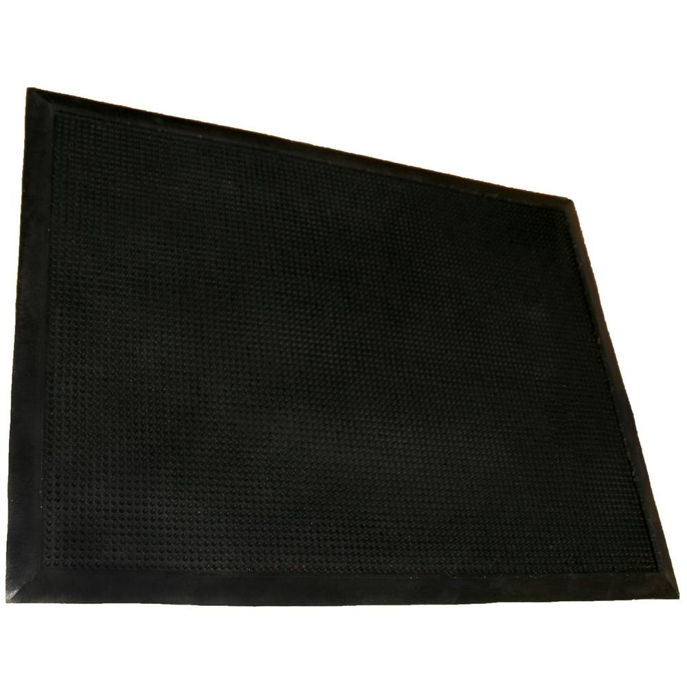 Rhino Anti Fatigue Mats Tritan Finger Tip Black Bristled