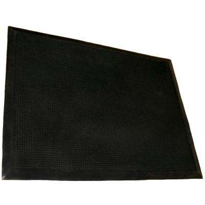 Tritan Finger Tip Black Bristled 36 in. x 72 in. Entrance Mat