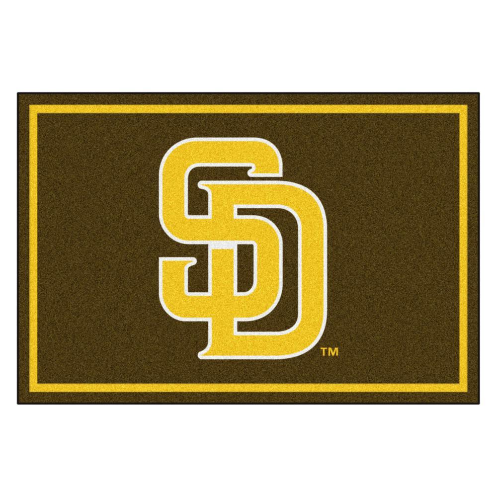 MLB - San Diego Padres 5 ft. x 8 ft. Ultra Plush Area Rug