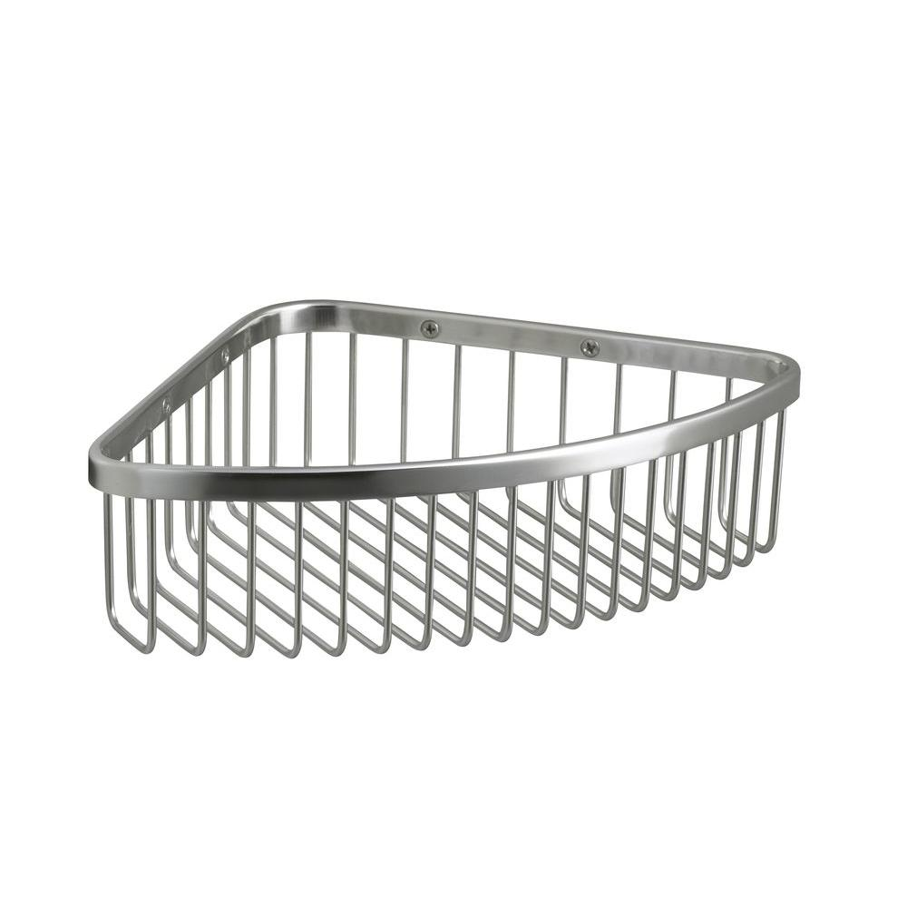 KOHLER Large Shower Basket in Polished Stainless-K-1897-S - The Home ...