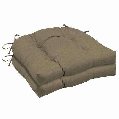 20 x 18 Sandstone Leala Texture Outdoor Seat Cushion (2-Pack)