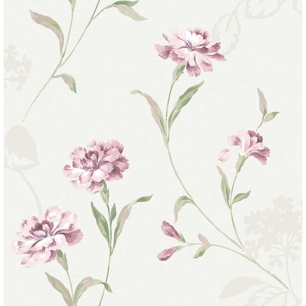 Brewster Caserta Pink Floral Wallpaper Sample 2734 003433sam The