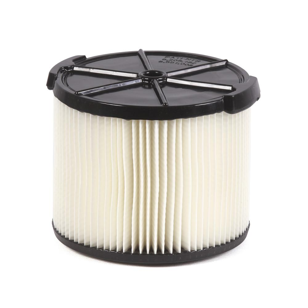 1-Layer Everyday Dirt Pleated Paper Filter for 3.0 to 4.5 Gal. RIDGID Wet Dry Shop Vacuums