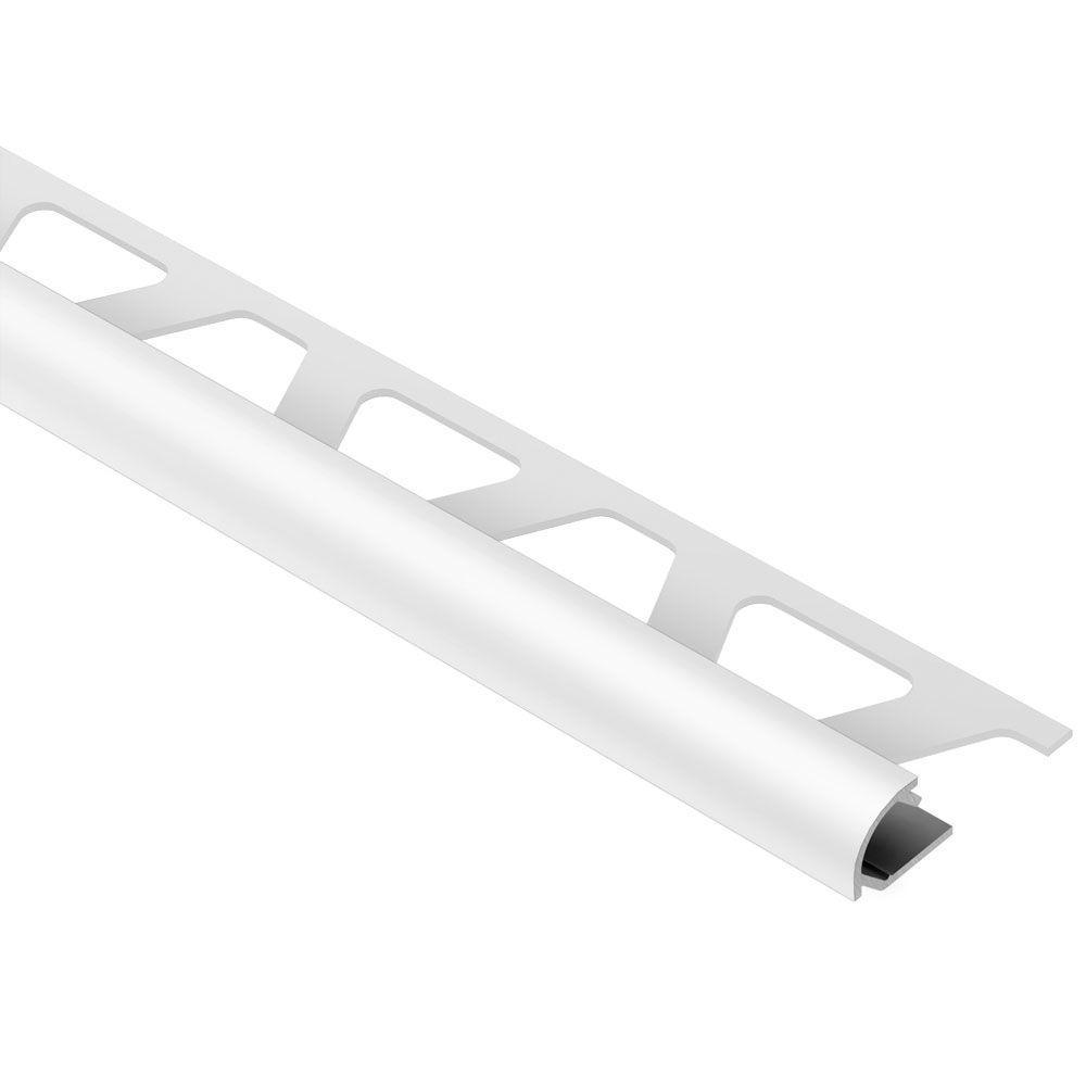 Schluter Rondec Light Grey Color Coated Aluminum 3 8 In X
