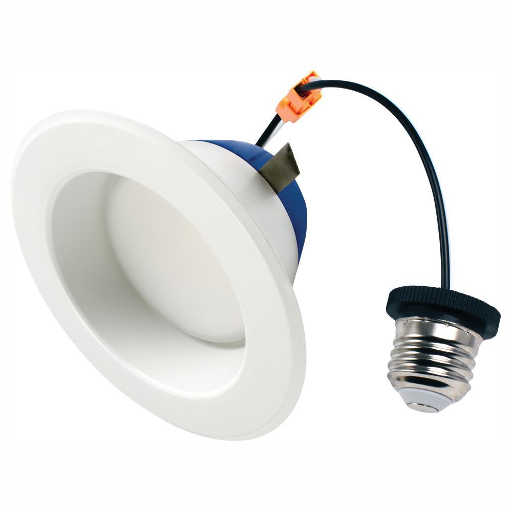 4 in. 75-Watt Equivalent 2700K Soft White Integrated LED Recessed Downlight Retrofit Trim