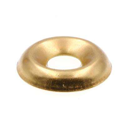 100-Pack Brass Plated Steel Countersunk 12 Prime-Line 9083846 Finishing Washers