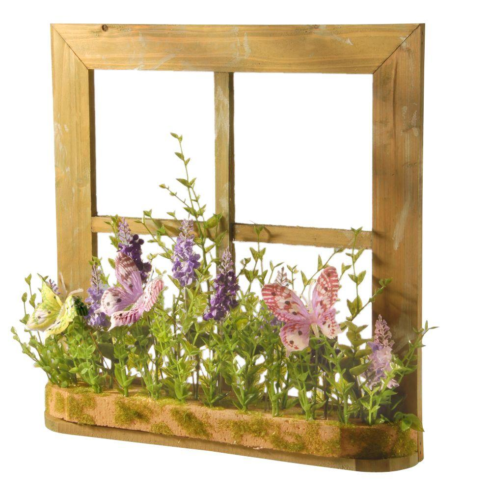 Home Decor Nation: National Tree Company 14 In. Lavender Window Decor-RAS