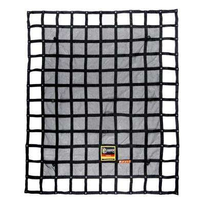 6.75 ft. x 8 ft. Heavy-Duty Cargo Net Integrated Mesh Adjustable Load Certified Attachment Straps and Bag Included