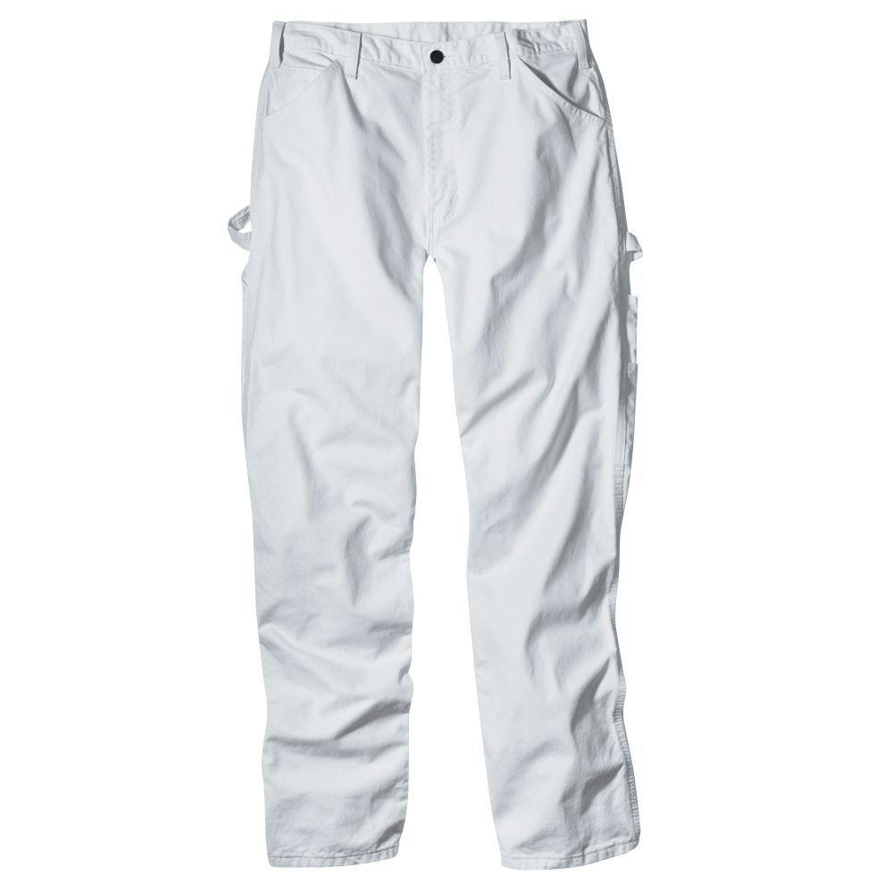 11b6760f587 Dickies Relaxed Fit 36-34 White Painters Pant-1953WH3634 - The Home Depot