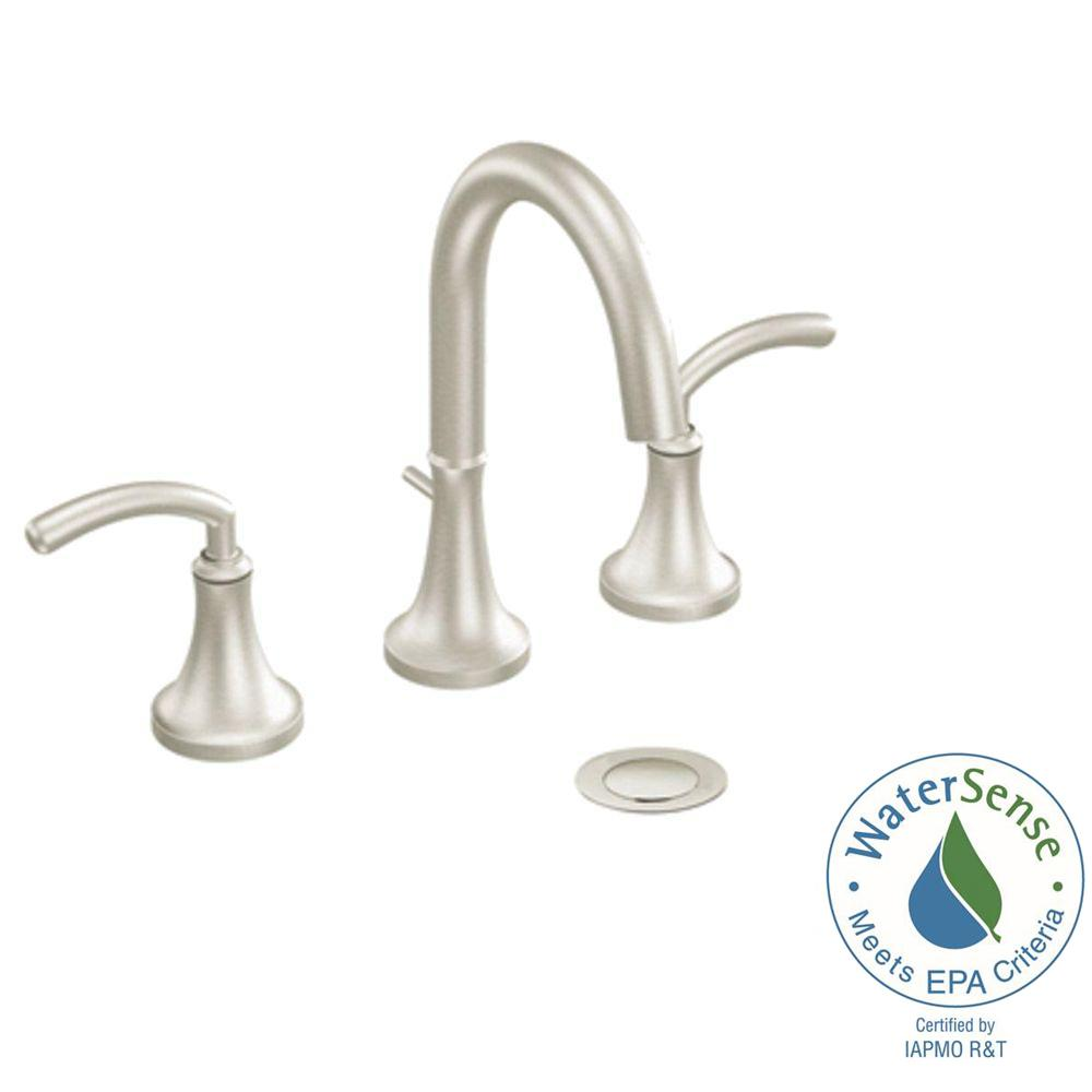 Icon 8 in. Widespread 2-Handle High-Arc Bathroom Faucet Trim Kit in
