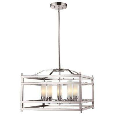 Aerial 5-Light Brushed Nickel Pendant