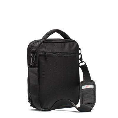 Black Unisex Sidecar Shoulder Messenger Bag, Front 10 in. x 8.25 in. Tablet/E-Reader Compartment