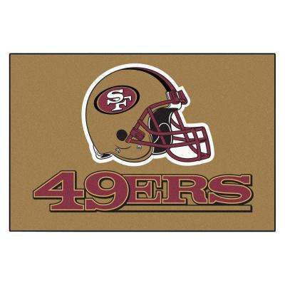 San Francisco 49ers 19 in. x 30 in. Accent Rug
