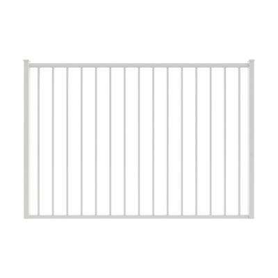 Newtown 6 ft. W x 4 ft. H White Aluminum Pre-Assembled Fence Gate