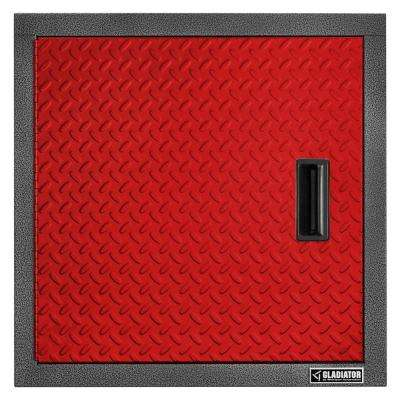 Premier Series Pre-Assembled 24 in. H x 24 in. W x 12 in. D Steel Garage Wall Cabinet in Racing Red Tread
