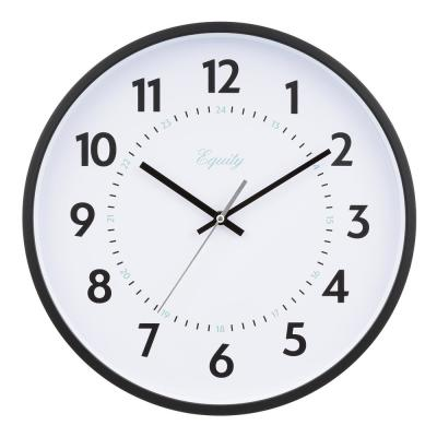 14 in. Commercial Black Analog Wall Clock