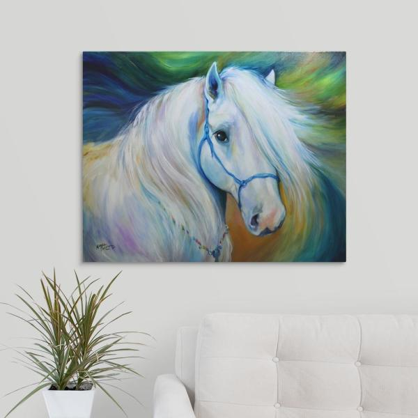 Maddie The Angel Horse By Marcia Baldwin Canvas Wall Art