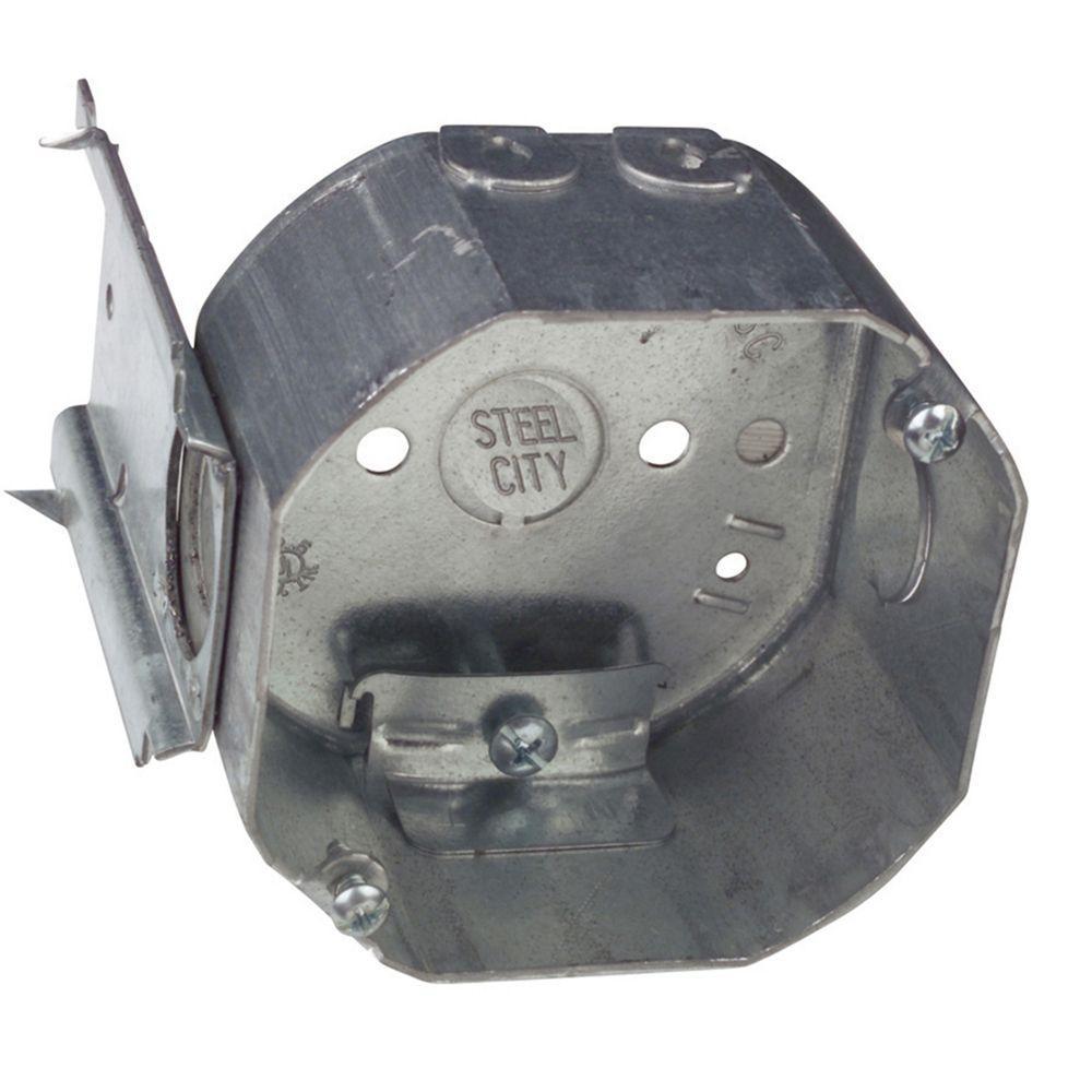 4 in. 22.5 cu. in. Pre-Galvanized Steel Octagon Box (Case fo 50)