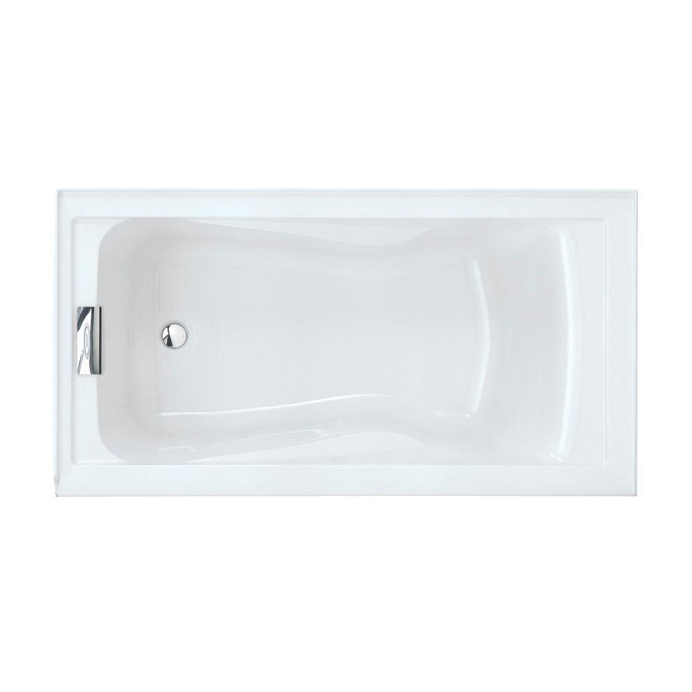 American Standard Evolution 5 Ft Left Drain Deep Soaking Tub With Integral A In Arctic