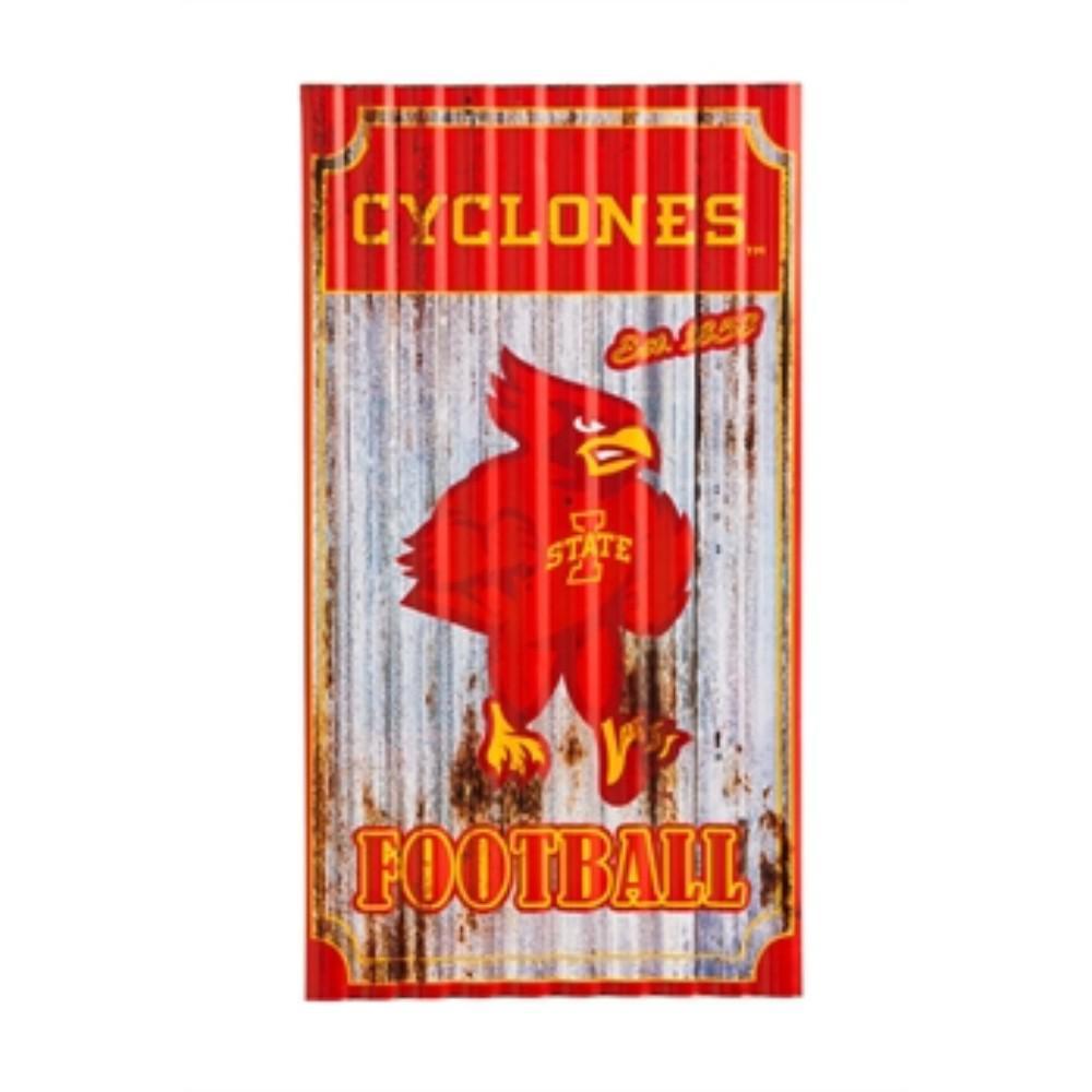 Iowa State University NCAA Corrugated Metal Indoor/Outdoor Wall Art