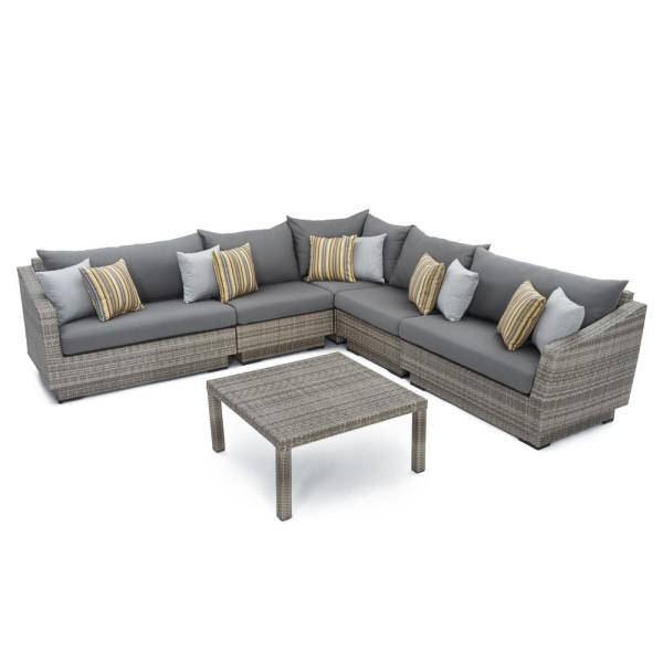 Cannes 6-piece Sectional and Table Set - RST Brands
