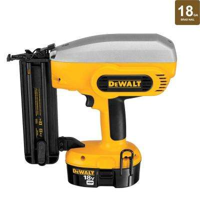 18-Volt XRP NiCd Cordless 2 in. x 18-Gauge Brad Nailer with Battery 2.4Ah, 1-Hour Charger and Case