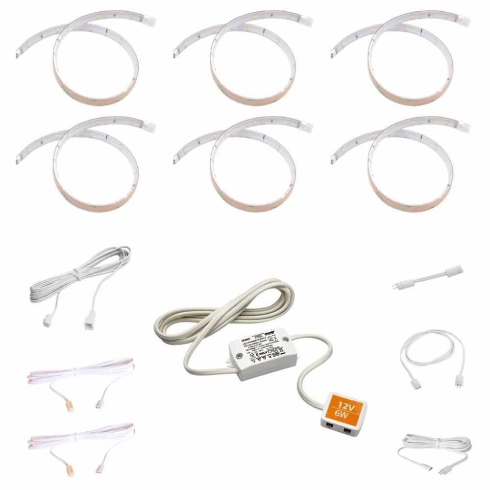 sensio 11 81 in  0 8-watt led cool white flexible strip kit  6-pack -sa10310whk6thd