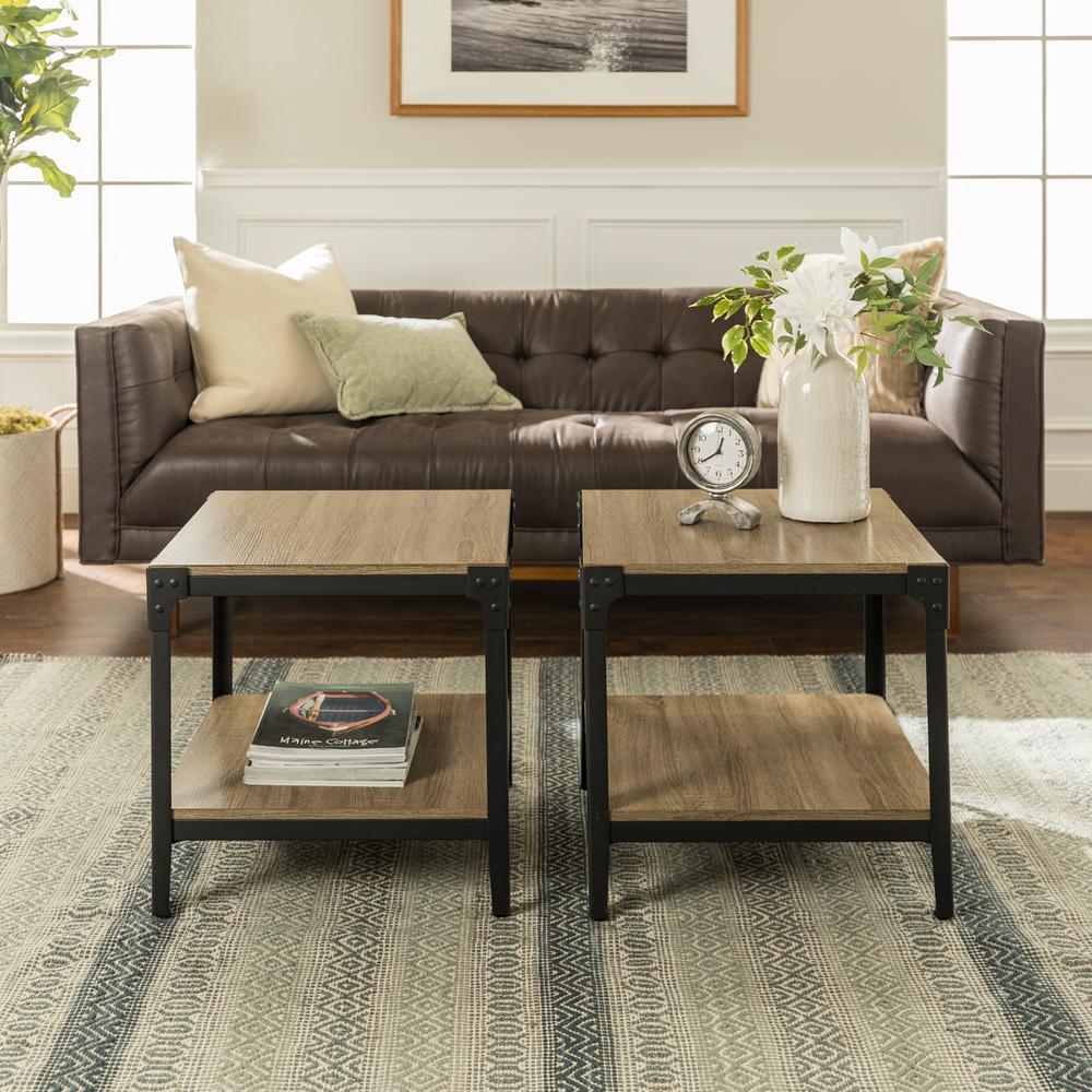 Home Furniture Company: Walker Edison Furniture Company Angle Iron Driftwood End