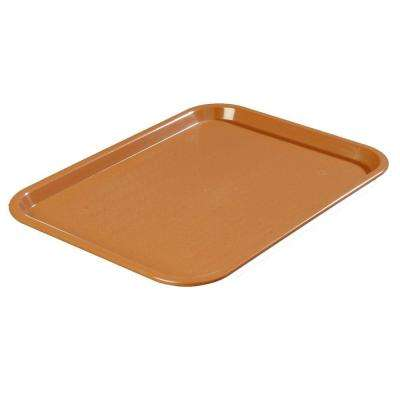 14 in. x 18 in. Polypropylene Tray in Light Brown (Case of 12)