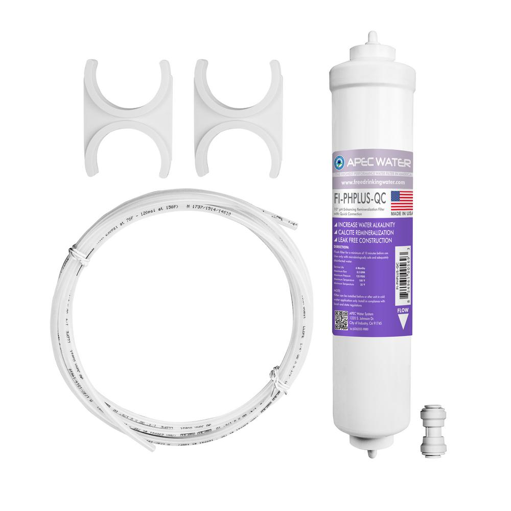 Ultimate 10 in. Calcium Carbonate Alkaline Filter Kit with 1/4 in.