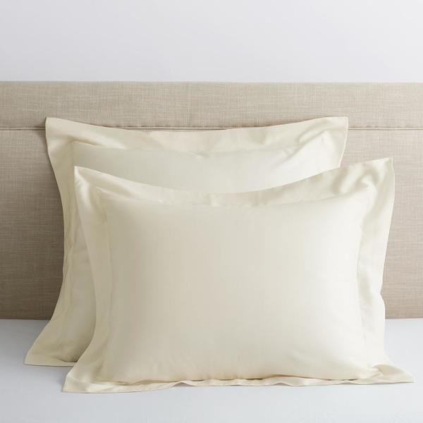 Legends Hotel Ivory 300-Thread Count TENCEL Lyocell Sateen Standard Sham