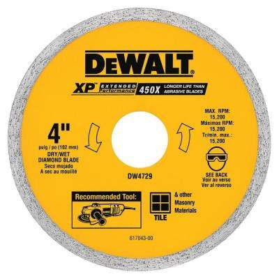 4 in. Ceramic Tile Circular Saw Blade