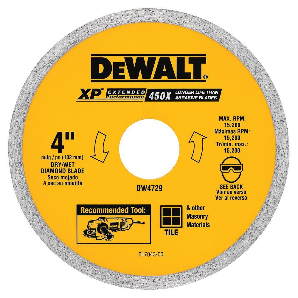 Dewalt 4 In Ceramic Tile Circular Saw Blade Dw4729 The Home Depot
