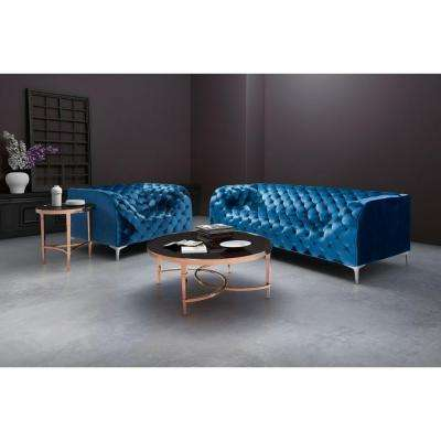 Providence Neon Blue Velvet Arm Chair