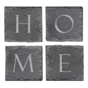 4 inch x 4 inch Home Sweet Home Slate Coasters by