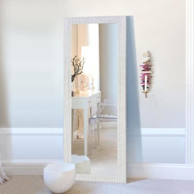 65 in. x 22 in. Sparkle Glam Mosaic Rectangle Framed Silver Full Length Standing Mirror