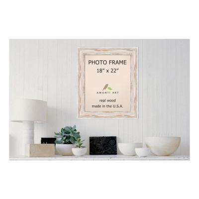 Alexandria 18 in. x 22 in. Whitewash Picture Frame