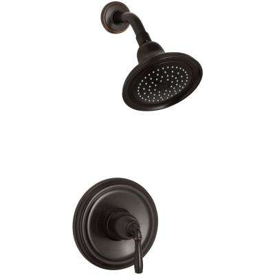 Devonshire 1-Spray 7 in. 2.0 GPM Fixed Shower Head with Lever Handle in Oil-Rubbed Bronze