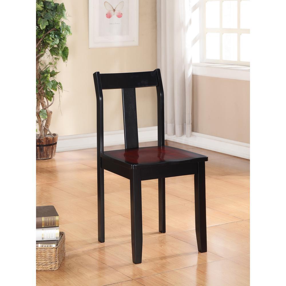 Linon Home Decor Camden Black Cherry Wood Office Chair