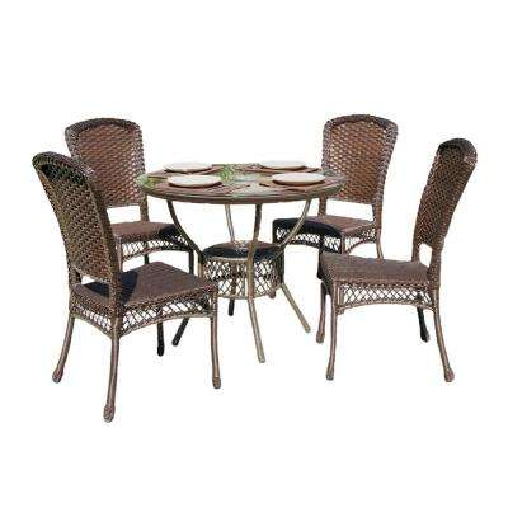 5-Piece Wicker Outdoor Dining Set
