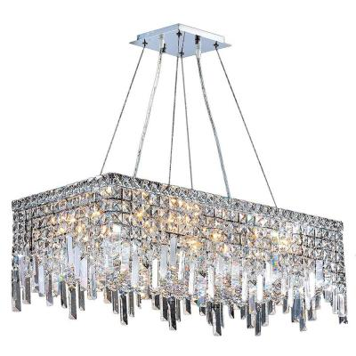 Cascade Collection 16-Light Crystal and Chrome Chandelier