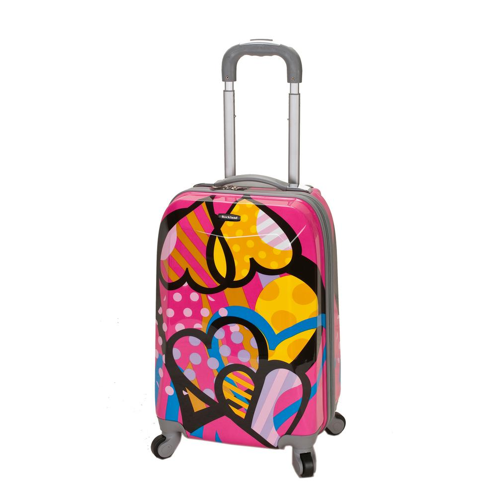 Rockland 20 in. Polycarbonate Carry-On, Love