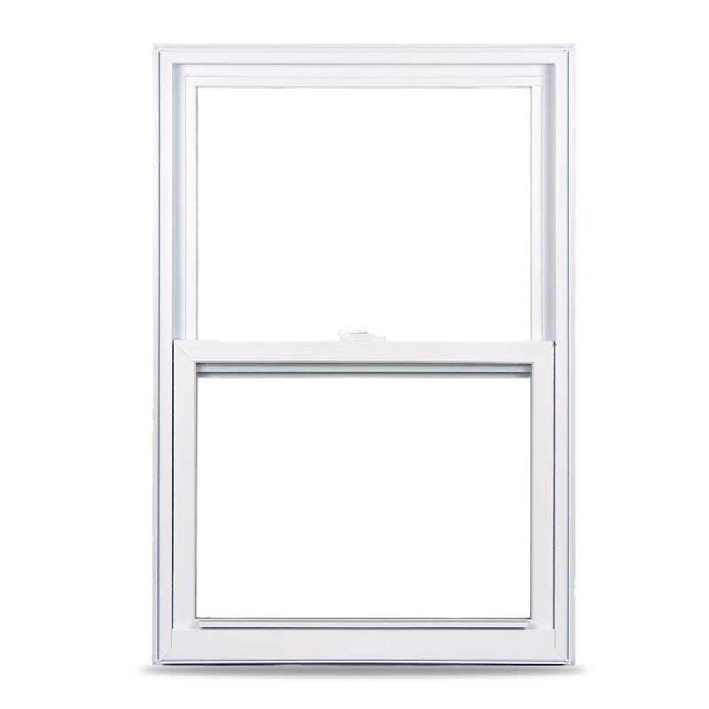 American Craftsman 35.375 in. x 51.25 in. 50 Series Single Hung White Vinyl Window with Nailing Flange
