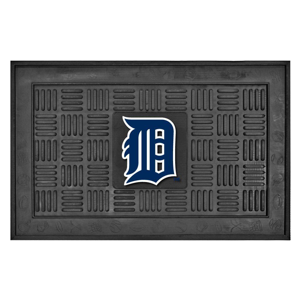 FANMATS Detroit Tigers 18 in. x 30 in. Door Mat