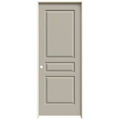 30 in. x 80 in. Avalon Desert Sand Right-Hand Textured Hollow Core Molded Composite MDF Single Prehung Interior Door