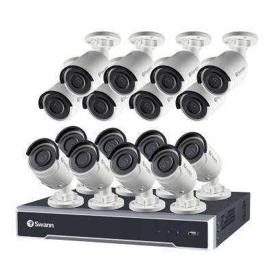 Swann 24-Channel 5MP Super HD Surveillance NVR with 4TB Hard Drive and 16x 5MP IP Bullet Camera