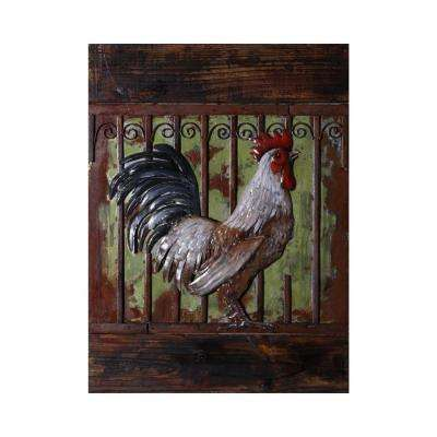 Roostng Multi-Colored Metal Wall Art