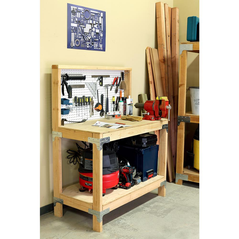 Astonishing Simpson Strong Tie Workbench Or Shelving Hardware Kit Lamtechconsult Wood Chair Design Ideas Lamtechconsultcom