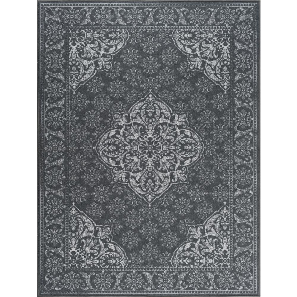 Majesty Charcoal 5 ft. x 7 ft. Traditional Area Rug